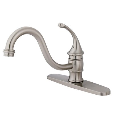Georgian Single Handle Kitchen Faucet with Spray Side Spray: Without Spray, Finish: Satin Nickel