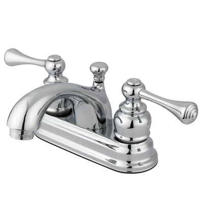 Vintage Double Handle Centerset Bathroom Faucet with ABS Pop-Up Drain Finish: Polished Chrome