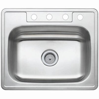 Studio 22 x 25 Gourmetier Self Rimming Single Bowl Kitchen Sink