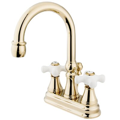 Governor Double Handle Centerset Bathroom Faucet with Brass Pop-Up Drain Finish: Polished Brass