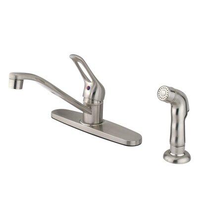 Wyndham Single Handle Kitchen Faucet Finish: Satin Nickel, Side Spray: With Side Spray