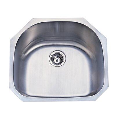 Loft 23.75 x 20.88 Gourmetier Undermount Single Bowl Kitchen Sink