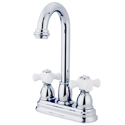 Restoration Double Handle Centerset Bar Faucet Finish: Polished Chrome