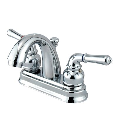 Naples Double Handle Centerset Bathroom Sink Faucet with ABS Pop-Up Drain Finish: Polished Chrome