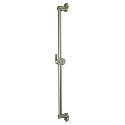 Made to Match Brass Slide Bar Size: 24 H, Finish: Satin Nickel