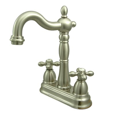 Heritage Double Handle Centerset Bar Faucet without Pop-Up Rod