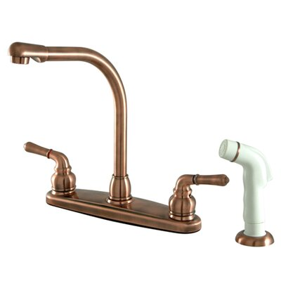 Magellan High Arch Kitchen Faucet with Sprayer Finish: Vintage Copper
