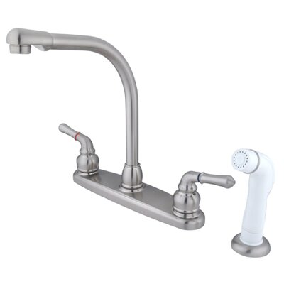 Magellan High Arch Kitchen Faucet with Sprayer Finish: Satin Nickel