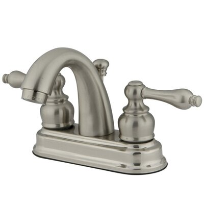 Restoration Double Handle Centerset Bathroom Sink Faucet with ABS Pop-Up Drain Finish: Satin Nickel