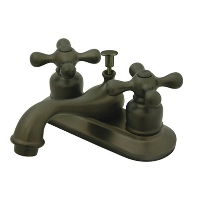 Restoration Double Handle Centerset Bathroom Sink Faucet with ABS Pop-Up Drain Finish: Oil Rubbed Bronze