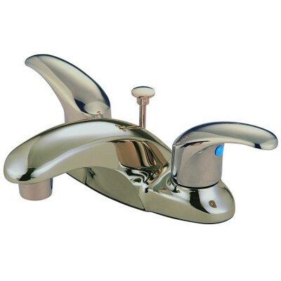 Legacy Double Handle Centerset Bathroom Faucet with ABS Pop-Up Drain Finish: Satin Nickel