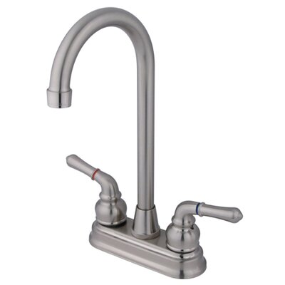 Magellan Double Handle Bar Faucet Finish: Satin Nickel