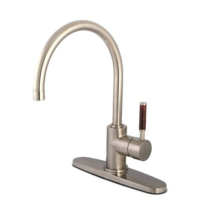 Wilshire Gourmetier Single Handle Kitchen Faucet Finish: Satin Nickel