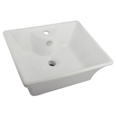 Forte Rectangular Vessel Bathroom Sink