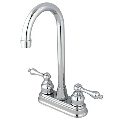 Victorian Double Handle Kitchen Faucet Finish: Polished Chrome