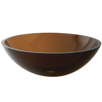 Fauceture Circular Vessel Bathroom Sink