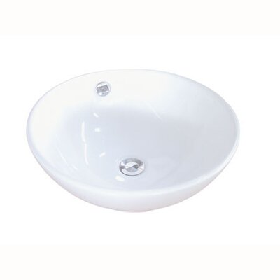 Perfection Circular Vessel Bathroom Sink with Overflow