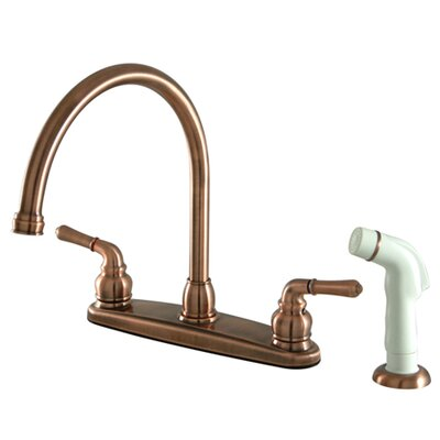 Magellan Double Handle Kitchen Faucet with Side Spray