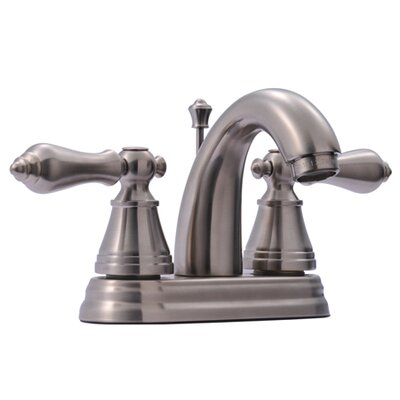 English Classic Double Handle Centerset Bathroom Faucet with ABS Pop-Up Drain Finish: Satin Nickel