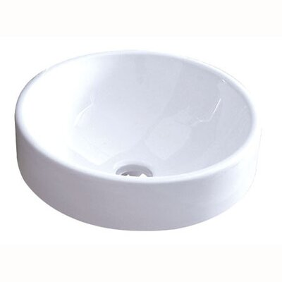 Zen Vitreous Circular Vessel Bathroom Sink