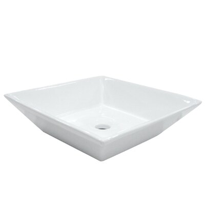 Parisan Rectangular Vessel Bathroom Sink Sink Finish: White