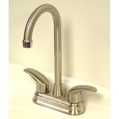 Legacy Double Handle Centerset Bar Faucet Finish: Satin Nickel/Polished Chrome