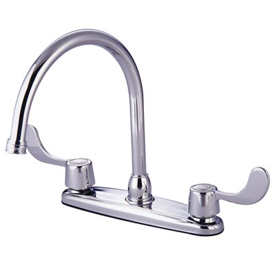 Vista Double Handle Kitchen Faucet Side Spray: Without Side Spray