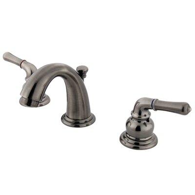 Magellan Double Handle Widespread Bathroom Faucet with 50/50 Pop-Up Drain Finish: Vintage Nickel