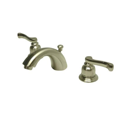 Royale Double Handle Widespread Mini Bathroom Faucet with Retail Pop-Up Drain Finish: Satin Nickel