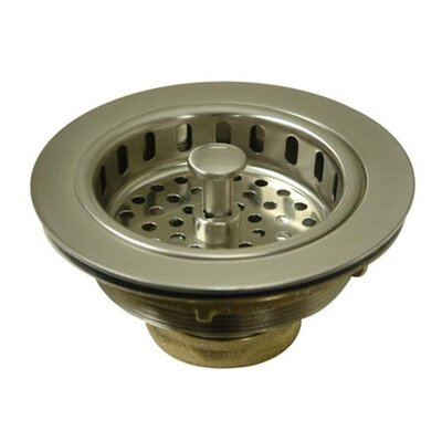 Miscellaneous Cast Brass Heavy Duty Basket Strainer Finish: Satin Nickel