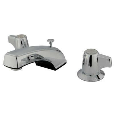 Americana Double Handle Widespread Bathroom Faucet with Brass Pop-Up Drain