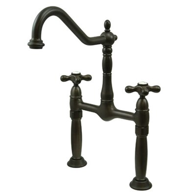 Victorian Double Handle Widespread Vessel Sink Faucet Finish: Oil Rubbed Bronze