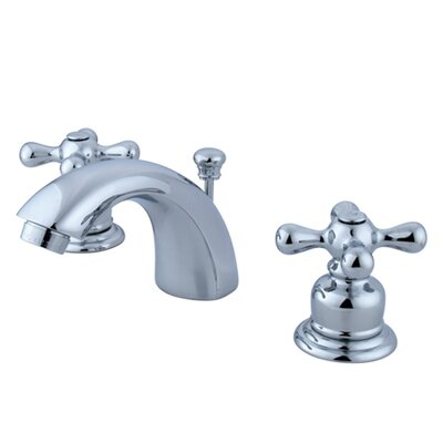 Victorian Double Handle Widespread Mini Bathroom Faucet with Brass Pop-Up Drain Finish: Polished Chrome