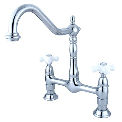 Heritage Double Handle Widespread Kitchen Faucet Finish: Polished Chrome
