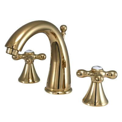 Naples Double Handle Widespread Bathroom Sink Faucet with Brass Pop-up Finish: Polished Brass