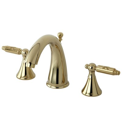 Elinvar Double Handle Widespread Bathroom Faucet with Brass Pop-Up Drain Finish: Polished Brass