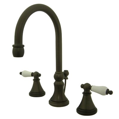 Governor Double Handle Widespread Bathroom Faucet with Brass Pop-Up Drain Finish: Oil Rubbed Bronze