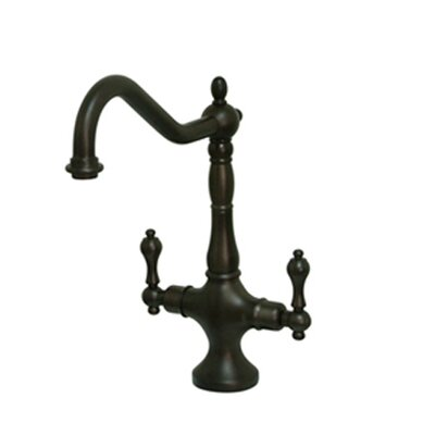 Heritage Double Handle Kitchen Faucet with Optional Side Spray Finish: Oil Rubbed Bronze, Side Spray: Without Spray