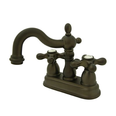 Heritage Double Handle Centerset Bathroom Faucet with Brass Pop-Up Drain Finish: Oil Rubbed Bronze