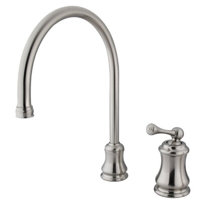 Restoration Single Handle Widespread Kitchen Faucet Finish: Satin Nickel, Side Spray: Without Spray