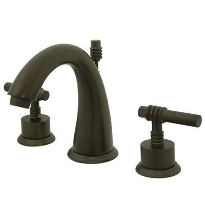 Milano Double Handle Widespread Bathroom Sink Faucet with Brass Pop-up Finish: Oil Rubbed Bronze