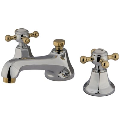 Metropolitan Double Handle Widespread Bathroom Faucet with Brass Pop-up Finish: Polished Chrome/Polished Brass