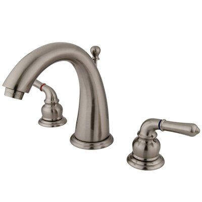 Naples Double Handle Widespread Bathroom Sink Faucet with Brass Pop-up Finish: Satin Nickel