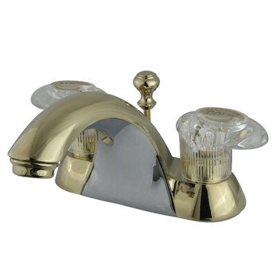 Naples Double Handle Centerset Bathroom Sink Faucet with ABS Pop-Up Drain Finish: Polished Brass