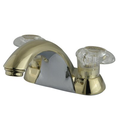 Naples Double Handle Centerset Bathroom Sink Faucet Finish: Polished Brass, Optional Accessories: Without Retail Pop-up Drain