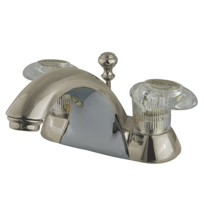 Naples Double Handle Centerset Bathroom Sink Faucet with ABS Pop-Up Drain Finish: Satin Nickel