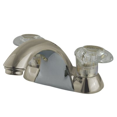 Naples Double Handle Centerset Bathroom Sink Faucet Optional Accessory: Without Retail Pop-up Drain, Finish: Satin Nickel