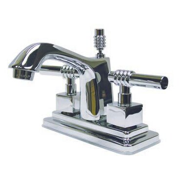 Milano Double Handle Centerset Bathroom Sink Faucet with Brass Pop-up Finish: Polished Chrome