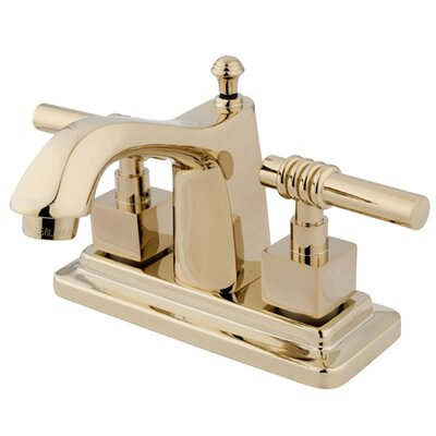 Milano Double Handle Centerset Bathroom Sink Faucet with Brass Pop-up Finish: Polished Brass