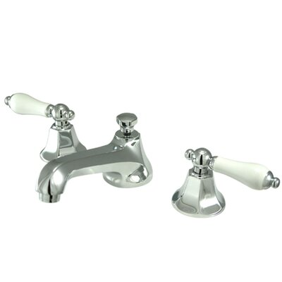 Metropolitan Double Handle Widespread Bathroom Faucet with Brass Pop-up Finish: Polished Chrome